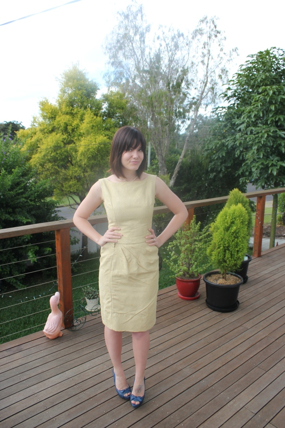 gold wiggle dress